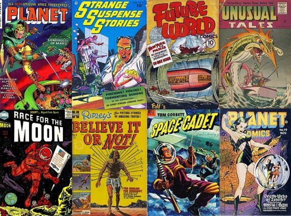 DVD Science Fiction SPACE COMICS Golden Age Planet Tom Corbett Sci Fi Dell Harvey