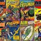WAR COMIC Books DVD  Golden Age era - Fight Warfront Battles Don Winslow Frogman