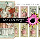 Marie Antoinette Style Fairies Digital Domino Collage Sheet-print Tiles for Pendants