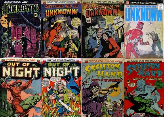 DVD Golden Age Comics HORROR ADVENTURES Comics  Into Unknown The Night skeleton