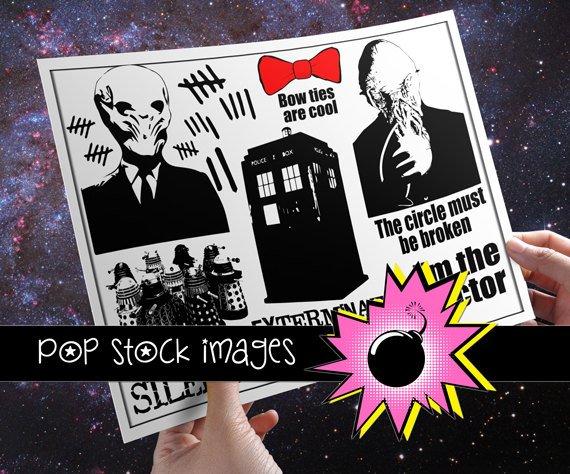 Doctor Who Inspired Digital Img.