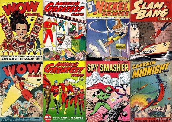 FAWCETT 147 WOW Comics DVD  Nickel America's Ibis Bulletman Spy Smasher
