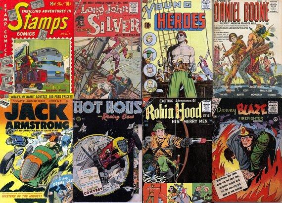 ACTION & ADVENTURE Comics Series DVD-Golden Age Charlton Robin Hood Terry Pirate