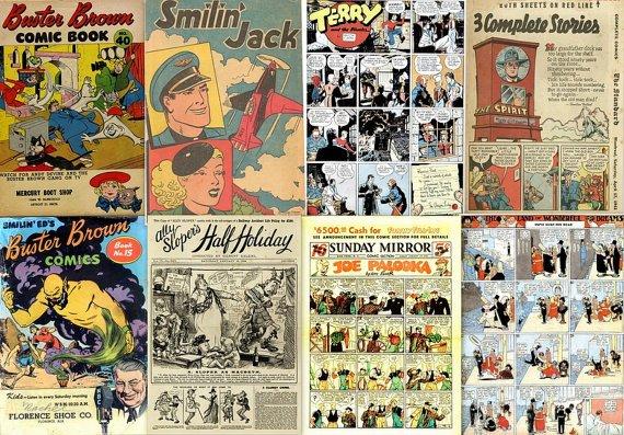 DVD Golden Age NEWS STRIPS Comics Joe Palooka BusterBrw Terry Pirates Spirit Newspaper