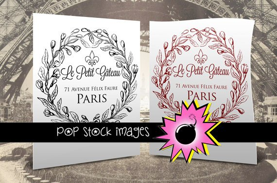 French Bakery Transfer-Digital Image to Print & Transfer-Paris Bakery Transfer Sheet Digital Image
