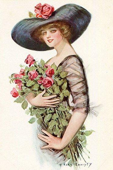 CD VICTORIAN WOMEN Clipart Illustrations Ladies vintage print