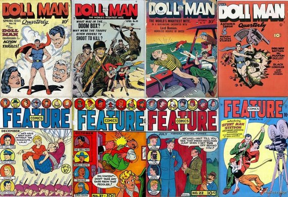 Quality FEATURE COMICS Doll Man DVD Feautre Comic Magazines Chesler Darrell Dane