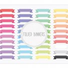 Folded Ribbon Banners Clip Art