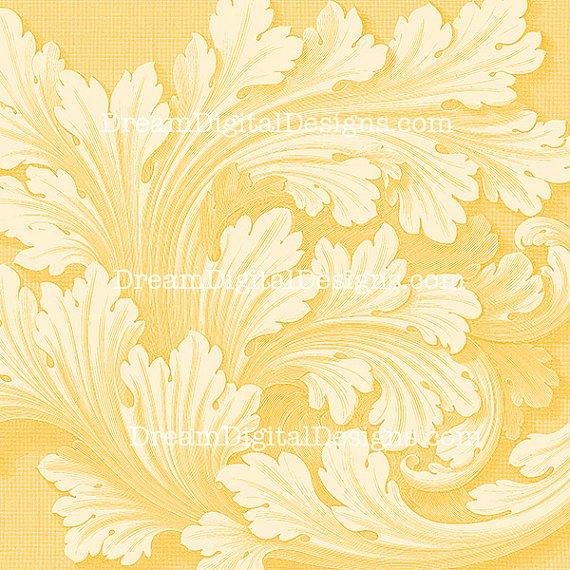 Digital Paper Background, Vintage Wallpaper, 12x12 Digital Scrapbooking Paper