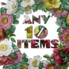Any 10 Digital items from ArtVintage1800s shop offer with discount