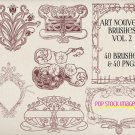 Art Nouveau Frames Ornaments Brushes Volume 2