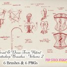 Vintage Corset Patents Photoshop Brushes Volume 2 - vintage print