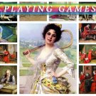PLAYING GAMES on 242 vintage print