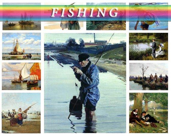 FISHING on 225 vintage print