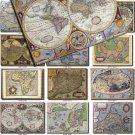 ANTIQUE MAPS-2 100 large size Img. printable old ancient World ephemera card