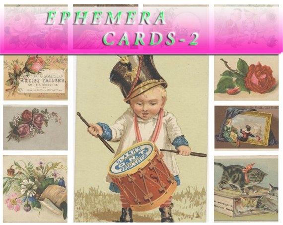 EPHEMERA-2 Collection with 370 vintage print