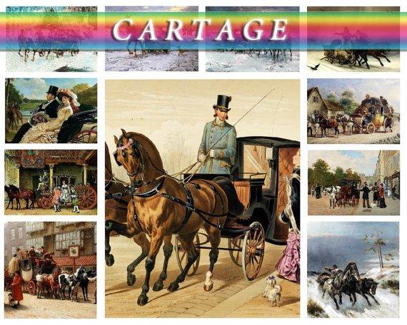 CARTAGE TRANSPORT on 214 vintage print