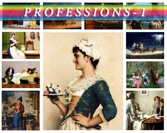 PROFESSIONS-1 on 270 vintage print