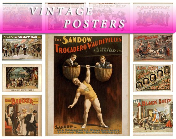 VINTAGE POSTERS 380 Img. in  placecard print hq USA patriotic pictures playbill