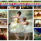 BALET CIRCUS Theatre on 192 vintage print