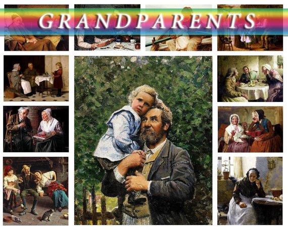 GR, MOTHER ,  GR, FATHER on 147 vintage print