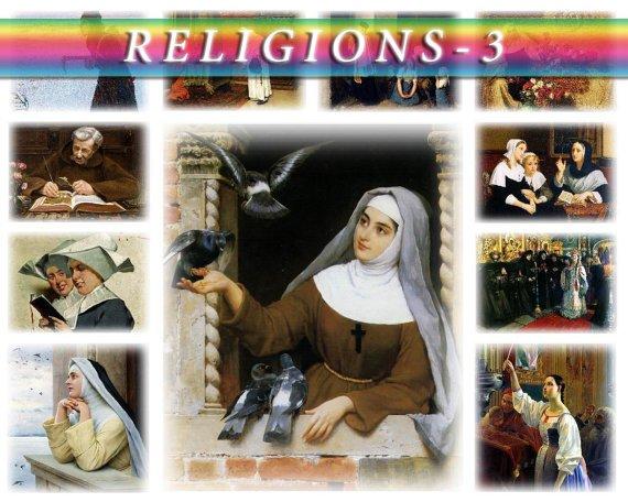 RELIGIONS-3 theme on 223 vintage print