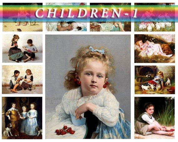 CHILDREN-1 235 vintage print