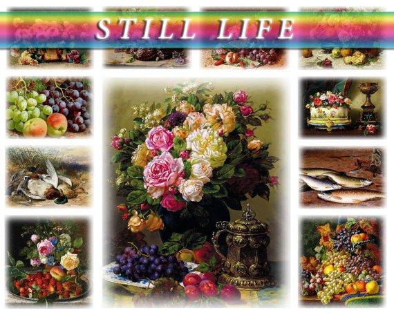 STILL LIFE on 207 vintage print