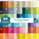 Tiny Hearts Digital Papers-Rainbow Hearts Papers-Love papers-Huge Paper Pack