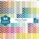 Chevron Digital Papers - Rainbow Scrapbook Papers - Huge Paper Pack