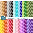Basic Chevron II Digital Papers - Scrapbooking Paper - card design, invittations