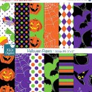 Hoween Papers - Digital Scrapbook Papers - card design, invitations, stickers