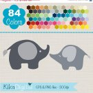 Elephants Clip ArtRainbow Elephants ClipartColorful Baby Elephants Vector GraphicsHuge Clipart