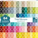 Tinted Quatrefoil Digital Papers-Rainbow Moroccan Papers-Mosaic Tile papers-Huge Paper
