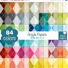 Argyle Digital Papers-Rainbow Argyle Papers-Argyle papers-Huge Paper Pack
