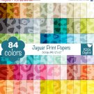 Jaguar Print Digital Papers-Rainbow Animal Print papers-Cheetah Papers-Huge Paper