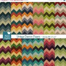 Vintage Chevron Digital PapersTextured Chevron PapersColorful Chevron Scrapbooking PapersRetro