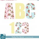 Shabby Chic Digital Alphabet-Digital Clipart / Scrapbooking-card designstickers