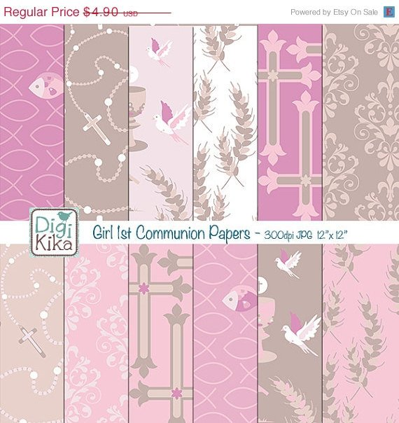 Girl First Communion Seamless Papers-Tileable Pattern-website   paper