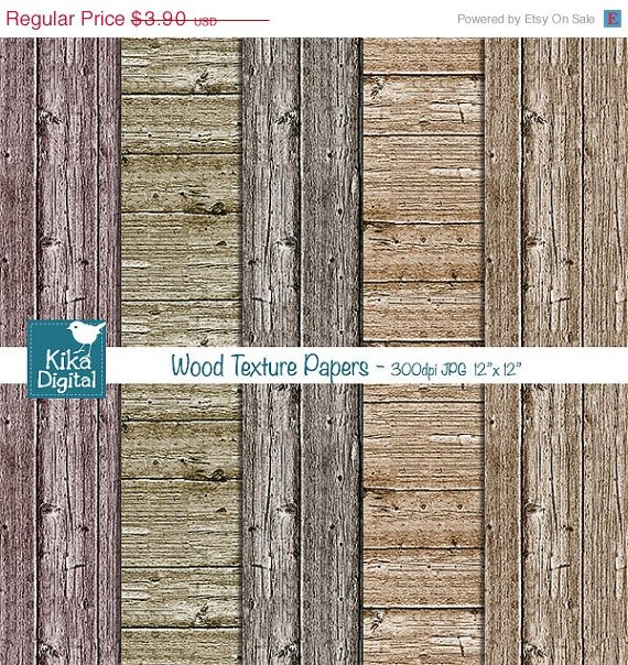 Wood Texture Digital Papers, Wood Papers, Rustic Wood Background