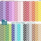 Chevron Basics Digital Papers- Colorful Digital Scrapbooking Papers- card design