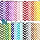 Chevron Basics Digital Papers- Colorful Digital Scrapbooking Papers- card design