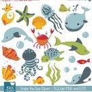 Under the Sea clipartcute sea animalssea clip artscrapbook Img.