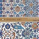 Digital Paper Pack 'Iznik Tiles - Set 01' , Print Patterns, Cards, Design