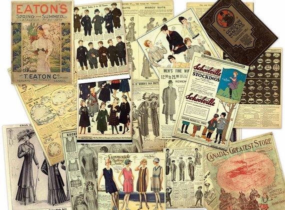 Vintage Departmental Store EATON's Mail Order CATALOG Ephemera on DVD