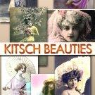 Digital images Jpeg 134 Beauties vintage print