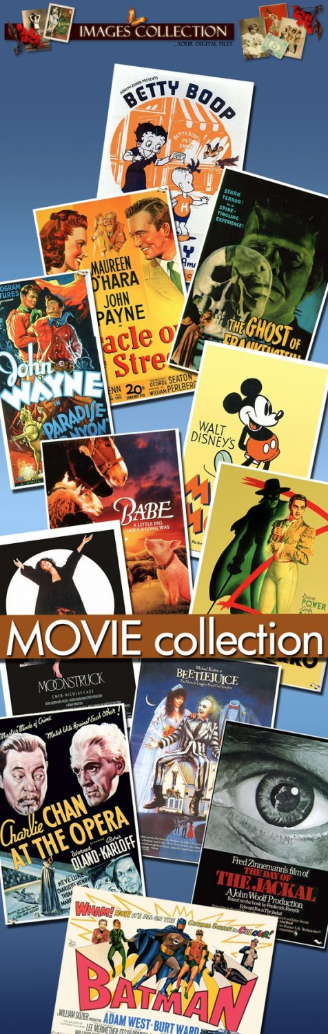 Movie Posters -Part.3- 700 Jpeg files scrap cards
