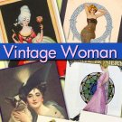 Vintage Woman 720 images jpeg ephemera lady vintage print