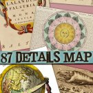 Digital Img. of Maps Earth , Sky collection old ancient Misc ephemera card space