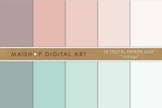 Solid Color Digital Paper - Vintage